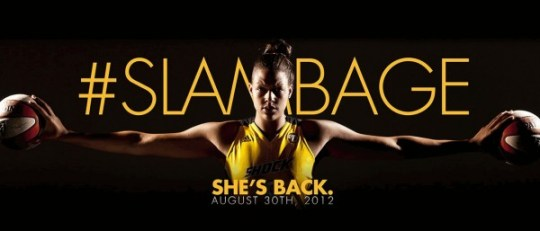 Tulsa Shock website splash screen for Liz Cambage's return before announcing a previous decision not to return to Tulsa.
