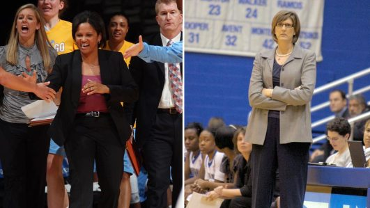 Pokey Chatman and Anne Donovan. Photos courtesy Chicago Sky and Seton Hall Athletics.