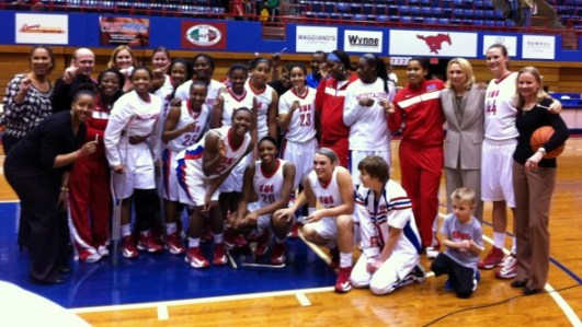 Dallas (Sunday, March 3, 2013) - SMU after beating UTEP 73-71.