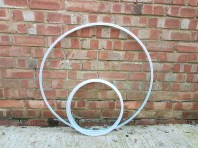 Same size hoop - one collapsed one full size