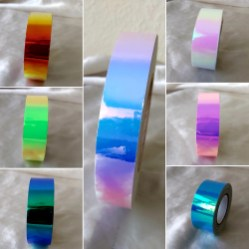 Colour Shifting Tapes; Molten Lava, Middle - Indigo Sunrise, Nebula, Toxic Popsicle, Tinkerbell, Dragonfly, Mermaids Petticoat