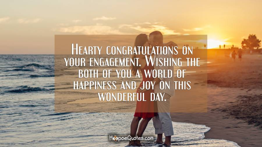 hearty congratulations on your