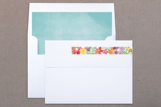 Tropical Date, matching skinnywrap label and envelope liner