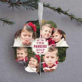 Holiday Quartet Ornament Card