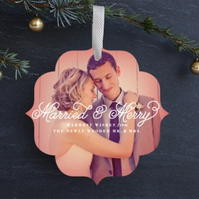 Married & Merry Ornament Card