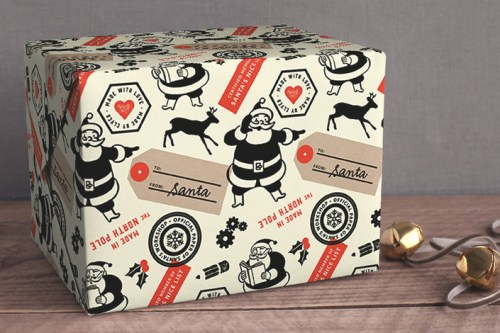 Snow and Ivy Wrapping Paper