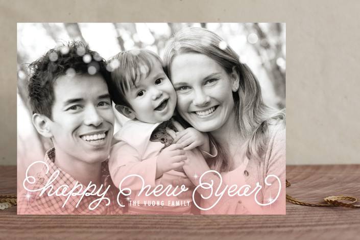 Ombre Sparkle New Year's Card
