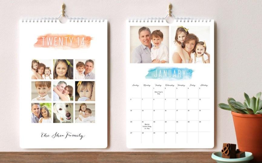 Watercolor Brush Calendar
