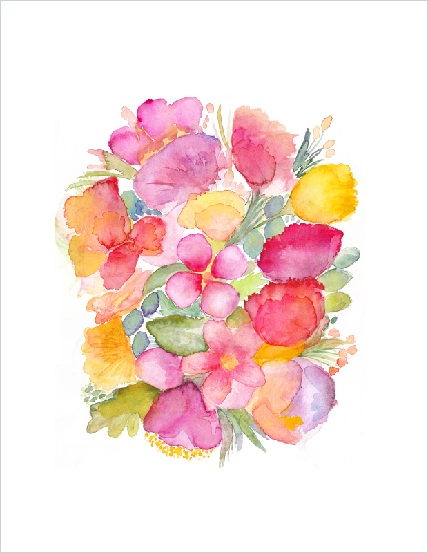 Abstract-Bouquet-watercolor-painting-art-print