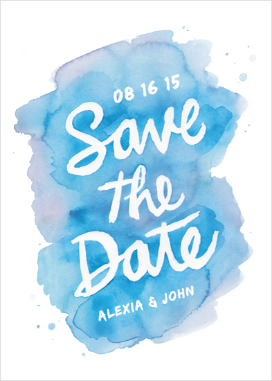 save the date cards - Watercolor Brush