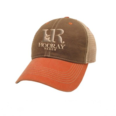 HR007 Legacy Brown Orange Embroidered Trucker Hat Hooray Ranch Online Store Kansas Hunting Experience 0001
