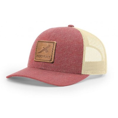 HR011 Richardson Red Leather Patch Trucker Hat Hooray Ranch Online Store Kansas Hunting Experience 0001