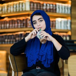 Hooriyah Collection's premium chiffon laser cut hijab wrap