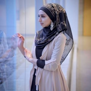 Hooriyah Collection,s Embroidered Hijab Wrap