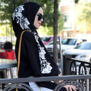 Hooriyah Collection's Embroidered Hijab