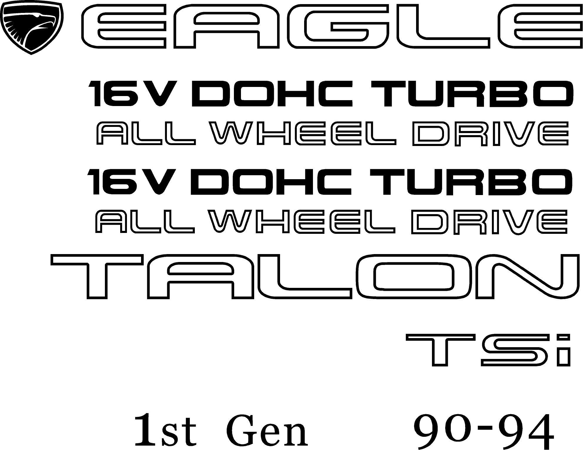 Eagle Talon Decals