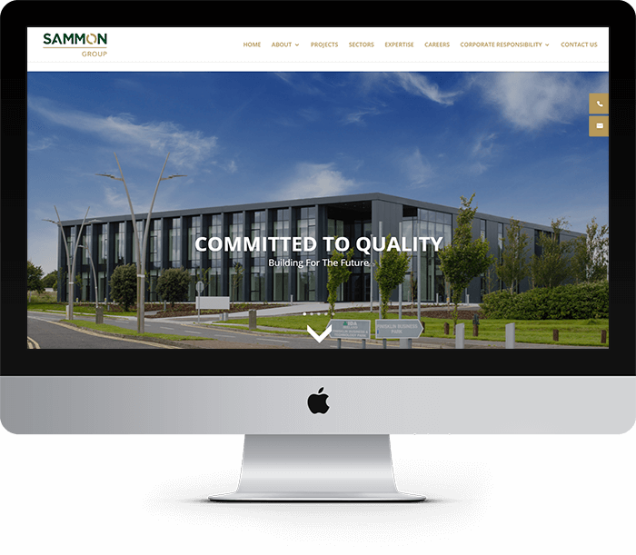 Sammon Group Website Design