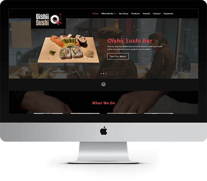 Oishii Sushi Website Design