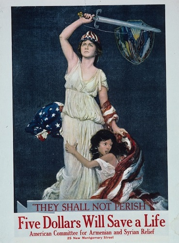 They Shall Not Perish Being Lady Liberty Five Dollars At