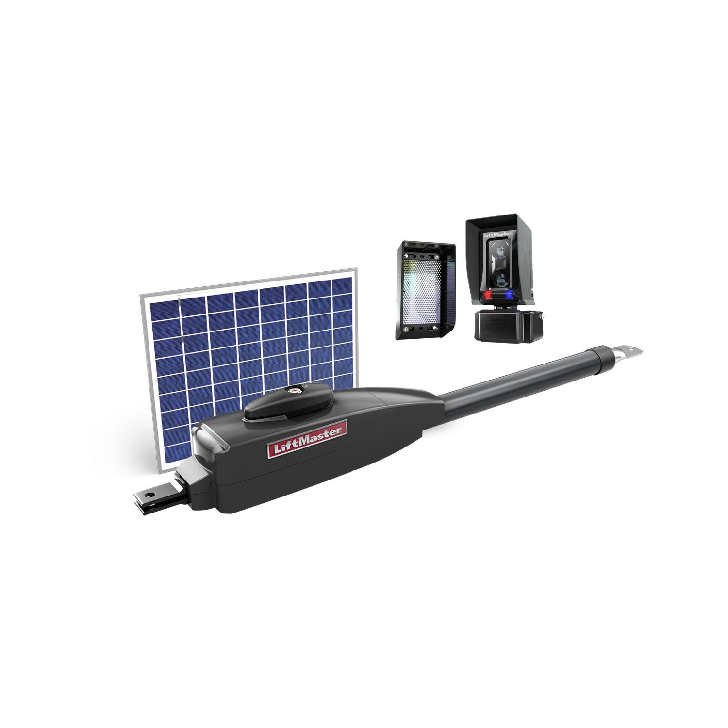 hight resolution of liftmaster solar powered single swing gate operator kit includes la412ul and lmrrul photoeyes