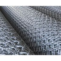 """9 Gauge x 2"""" Chain Link Fence Fabric, Aluminum 