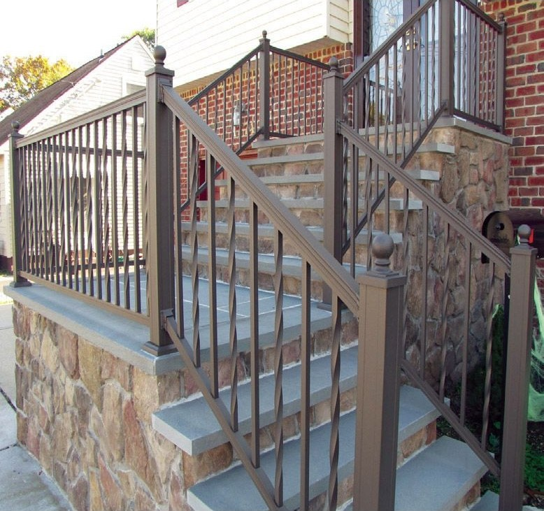 Key Link American Series Aluminum Railing Sections Hoover   Installing Aluminum Stair Railing   Baluster   Deck Stair   Balcony Deck   Railing Systems   Pressure Treated