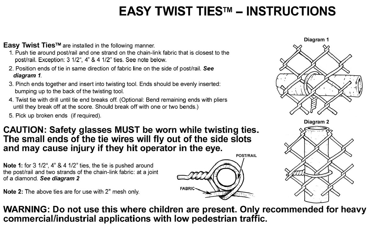 hight resolution of easy twist ties instructions
