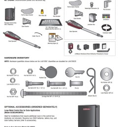 liftmaster la412pkgu included parts [ 872 x 1029 Pixel ]