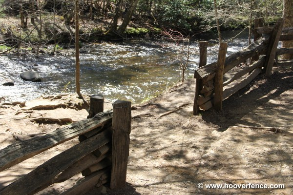 Cedar Stack Rail Fence - Year of Clean Water