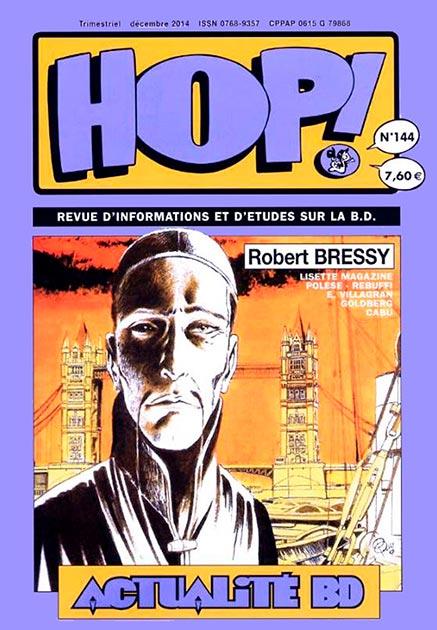 Couverture Hop ! N°144 spécial Robert Bressy - hop-bd.fr