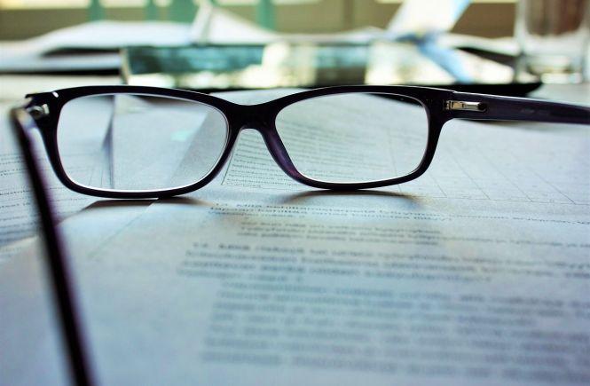 Ich lektoriere dein Buch mit Brille und Buch - Gabi Fink