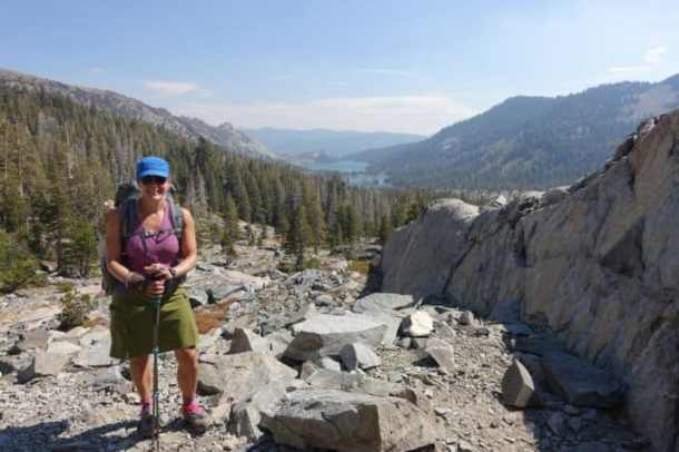 Climbing above Echo Lake