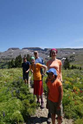 Kids on Teton Crest Trail