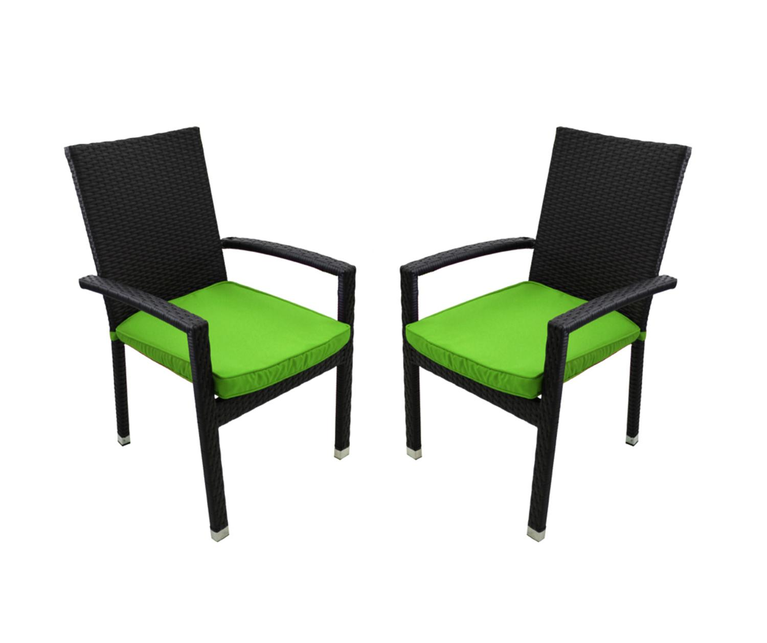 green resin patio chairs gaming chair surround sound set of 2 black wicker outdoor furniture dining