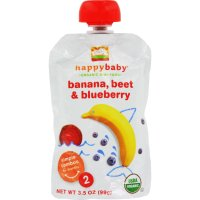 Happy Baby Organic Baby Food - Stage 2 - Banana Beets and ...