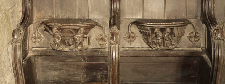 Two of the misericords