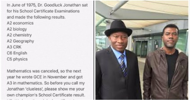 The SA to the former President shared the WAEC result of 'Dr. Goodluck Jonathan' to prove that he isn't clueless and it was a great sight to behold.