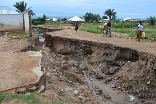 flood damage in Bujumbura
