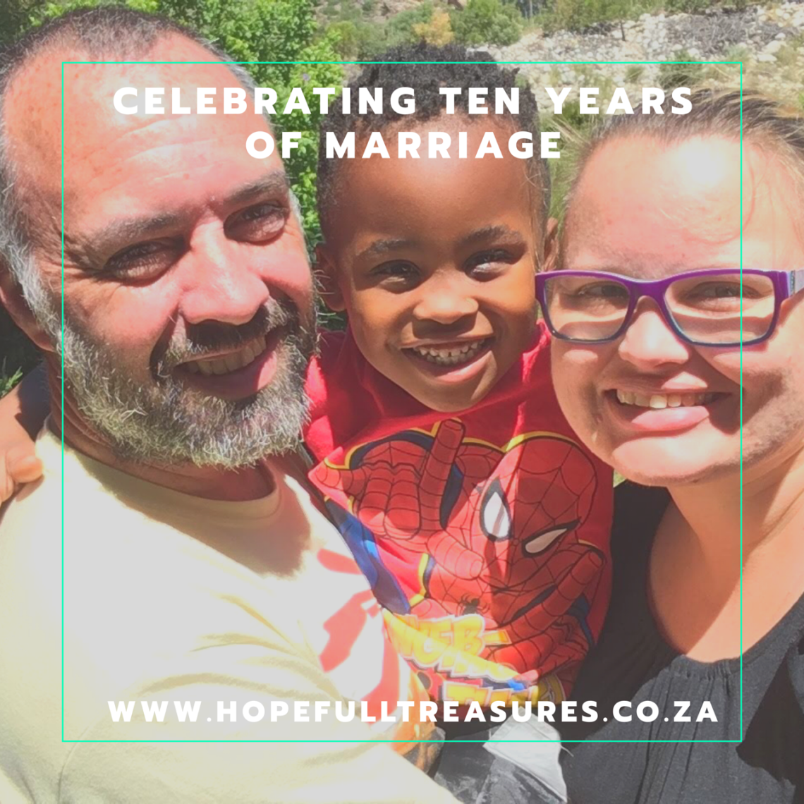 Family holiday celebrating 10 years of marriage