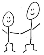 happy stick figures