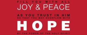 Hope Modern Typography Scripture Art Print
