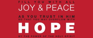 Hope Modern Typography Scripture Art Print