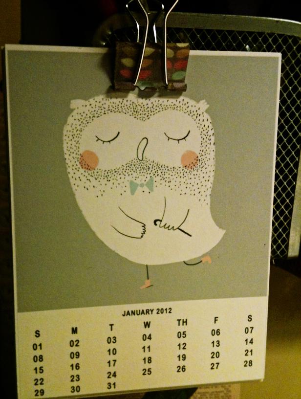 printable owl calendar