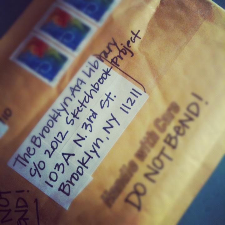 Sketchbook Project Envelope Mailed