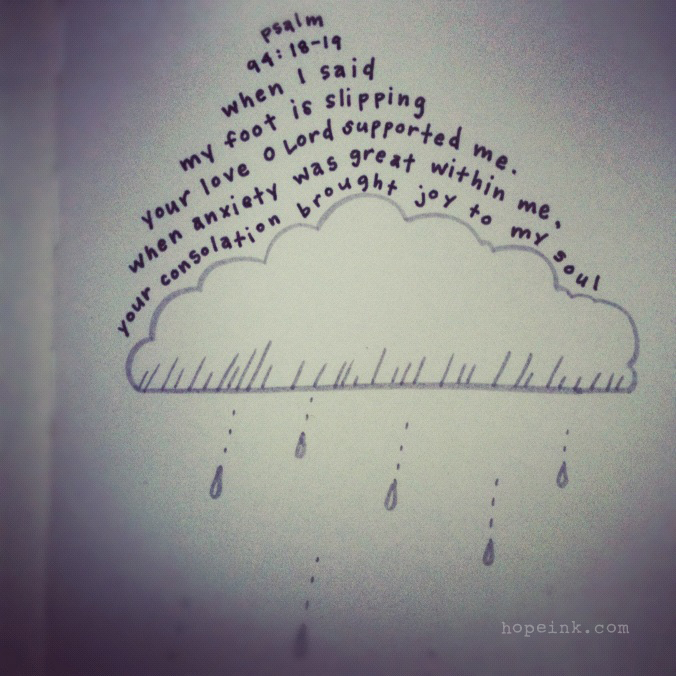 Rain Cloud Bible Verse Illustration