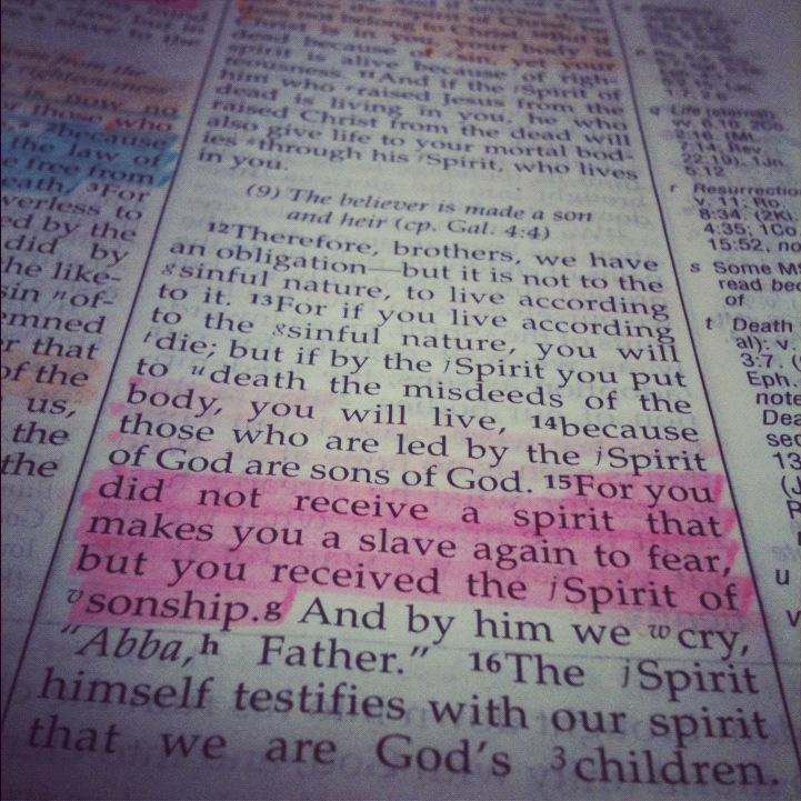 Romans 8 Bible Page