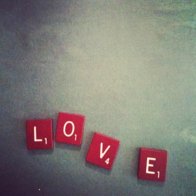 Scrabble Love Tiles