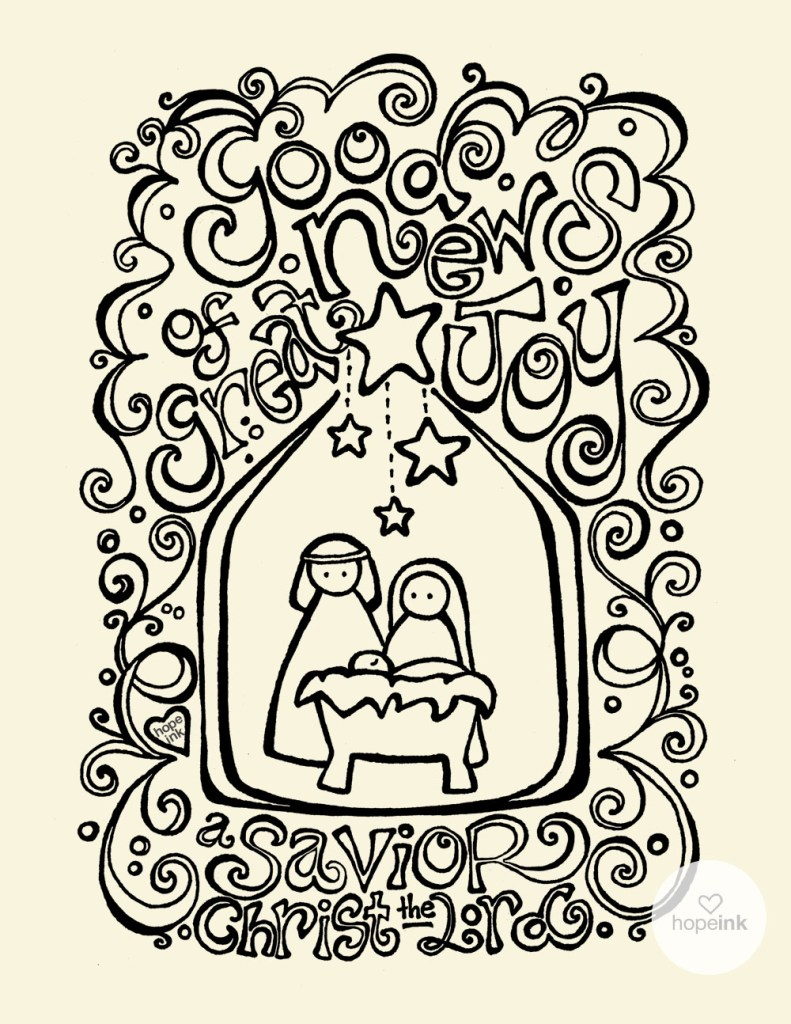 Christmas Nativity Coloring Sheet Printable