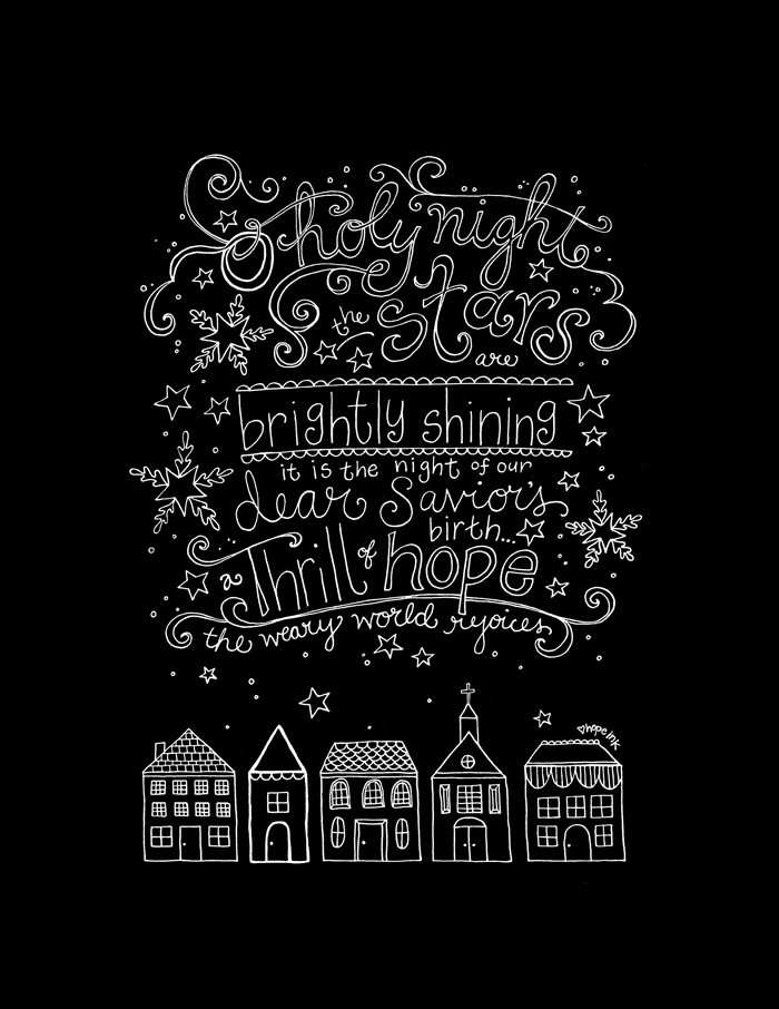 Christmas Chalkboard Art Printable