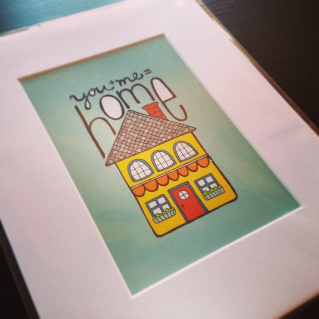 you + me = home illustration